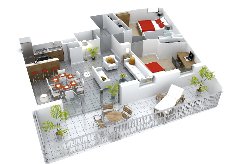 Plan Appartement D Plans D Pour S Niors Studio Multim Dia D At