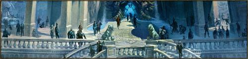 Place d'échange, des échoppes discrètes parsèment l'Agora, soigneusement disposées sur son pourtour. Une partie de la place est traditionnellement réservée aux personnes désirant se faire entendre, sur n'importe quel sujet. On peut aussi trouver, en son centre, le motif de téléportation, sous forme d'un dragon stylisé.