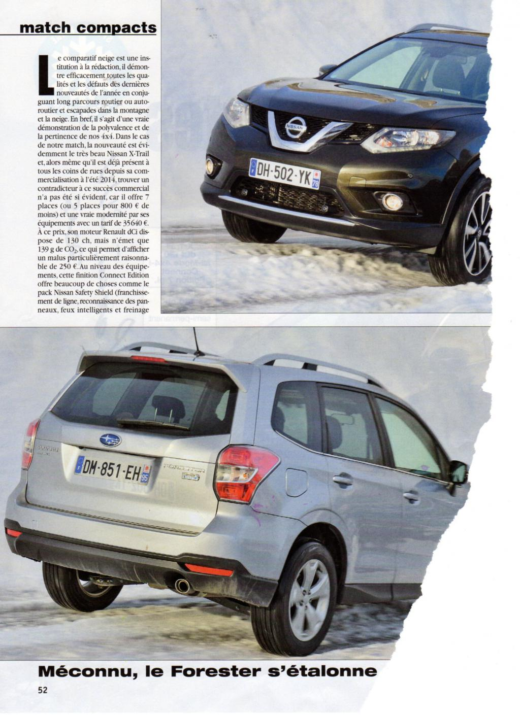 forum subaru diesel sur 4x4 magazine de d but 2015 comparatif a la neige entre forester. Black Bedroom Furniture Sets. Home Design Ideas