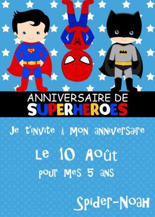 C lean m ag scrap d co un anniversaire de super h ros par ketty - Carte anniversaire super heros ...