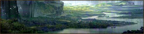 Situé au sud-ouest du continent, c'est dans ce bassin verdoyant et marécageux que se sépare le Delta du fleuve Cenedril, zone surnommée la Main de Néhara. A son extrémité, adossée à flanc de montagne, se dresse la Forteresse, point névralgique du commerce, accueillant également duels et entrainements spécialisés.