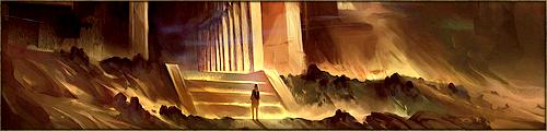 Vaste salle au sol couvert de sables brûlants, à demi taillée dans la roche, où les Reines Dorées couvent leurs oeufs. Ici se déroule la Cérémonie de l'Empreinte des Aspirants de Màr Menel, en présence de tous les membres du Kaerl.