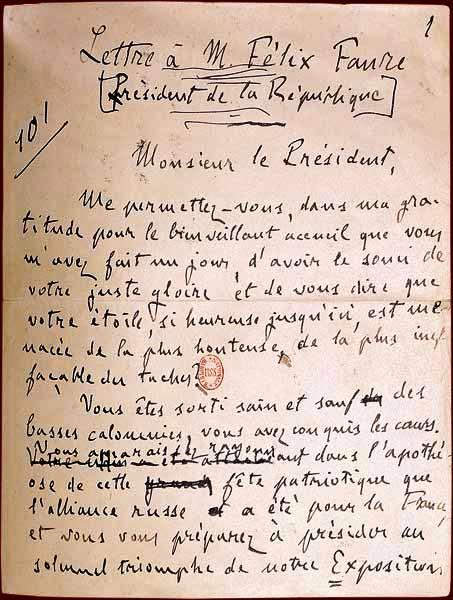 Une petite histoire par jour (La France Pittoresque) - Page 2 Jaccuse_autographe-53c4300