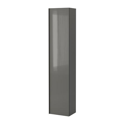Colonne salle de bain neuve gris fonce brillant for Colonne de salle de bain gris anthracite