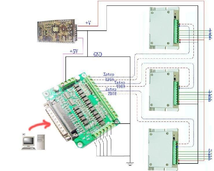 Db25 Breakout Board Wiring Diagram DB25 Breakout Rack