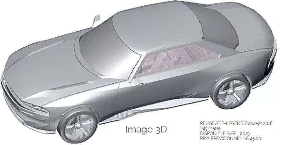 VOXxi9 PEUGEOT e-LEGEND Concept 1//43 SPEEDFORM  Étude de Style Épure Résine