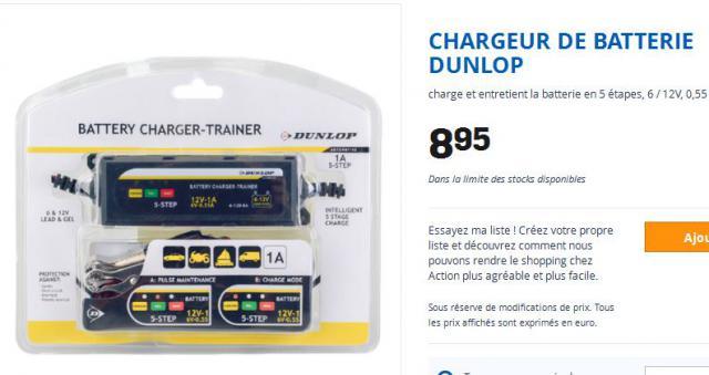 chargeur batterie action