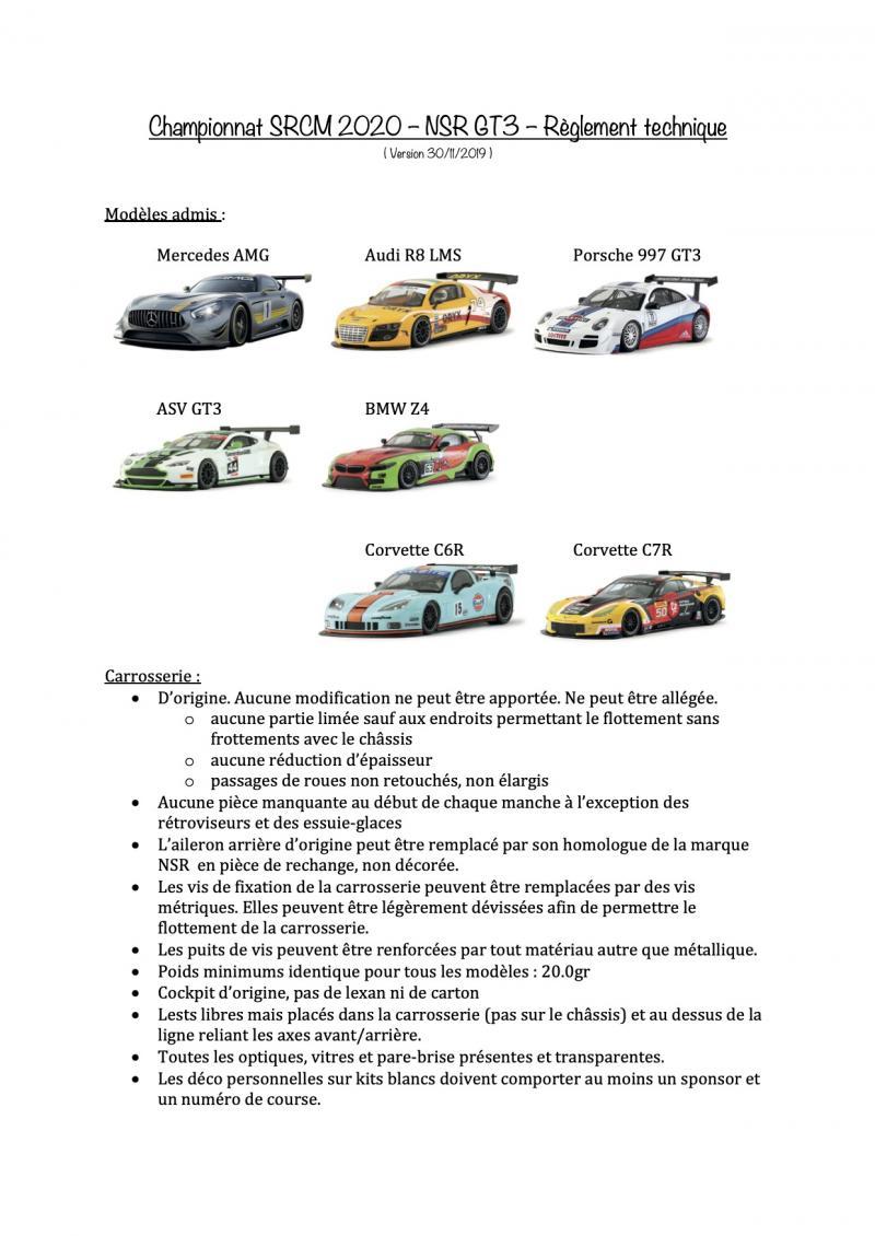 Rendez-vous le 21 février 2020. 1ère manche NSR GT3 CHAMPIONSHIP. Championnat-srcm-...hnique-1-56d0a80