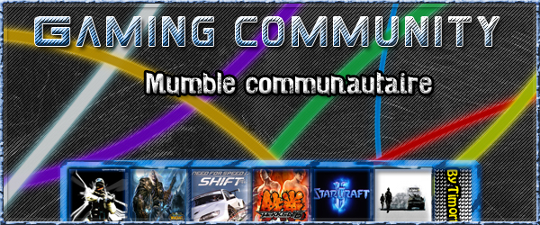 Gaming community, Mumble gratuit et publique ! Index du Forum