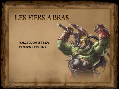 <les fiers a bras> Forum Index