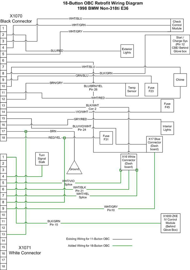E36 Dash Wiring Diagram : Passion bmw e tuto montage d un odb touches sur
