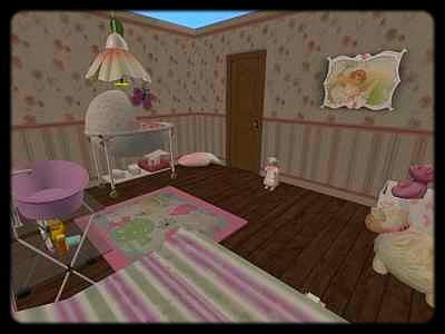 Chambre b b for Sims 3 chambre bebe