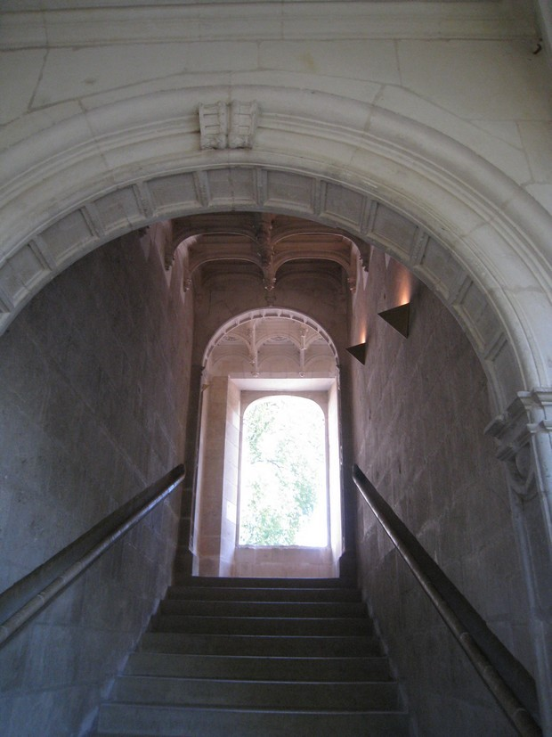 Passions et partage les chateaux de la loire azay for Tapisserie montee escalier