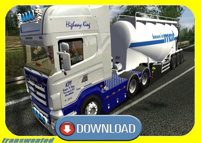 Мод Scania Highway King для German Truck Simulator. Грузовики.
