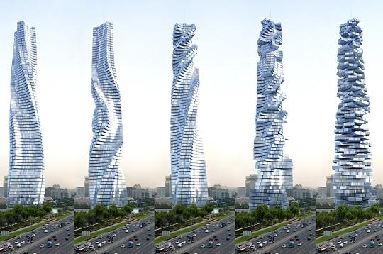 Medmatiq des gratte ciels pivotants duba et moscou for R architecture tours