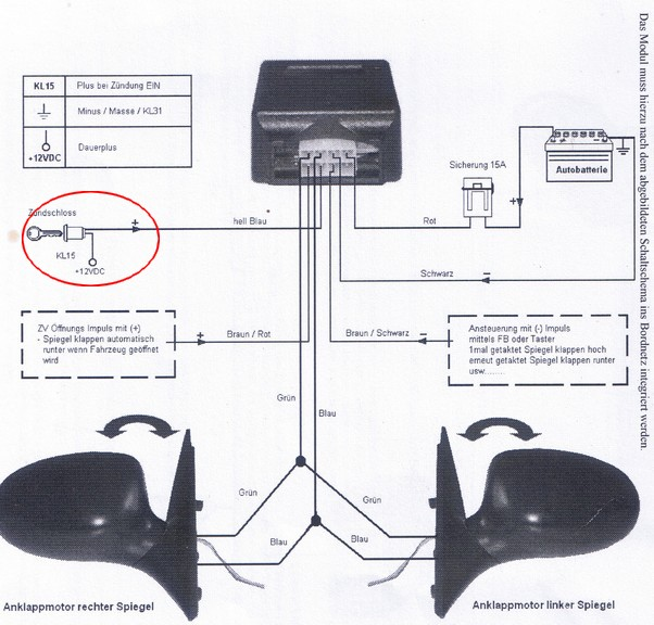 bmw nord power installation de boitier de commande pour r tros rabattables. Black Bedroom Furniture Sets. Home Design Ideas