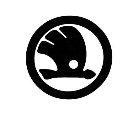 Logo skoda noir