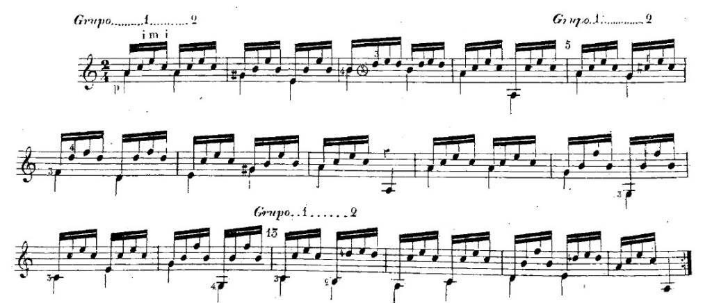 Préférence six.cordes : les cours de guitare :: Lección №19 (Andantino) de  CU33