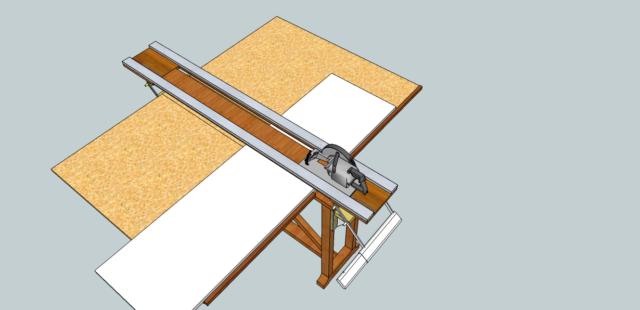 Support scie circulaire - Fabriquer une scie circulaire sur table ...
