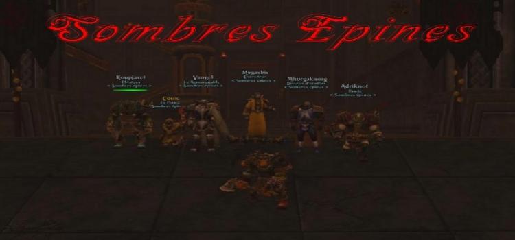 Guilde Sombres Epines Index du Forum