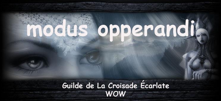 modus opperandi Index du Forum