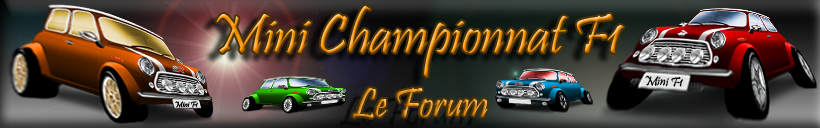 Mini Championnat F1 Index du Forum