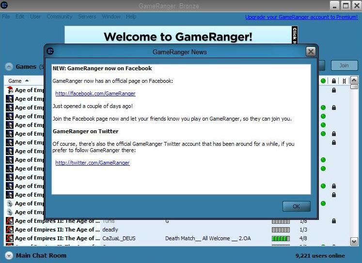 gameranger invite code