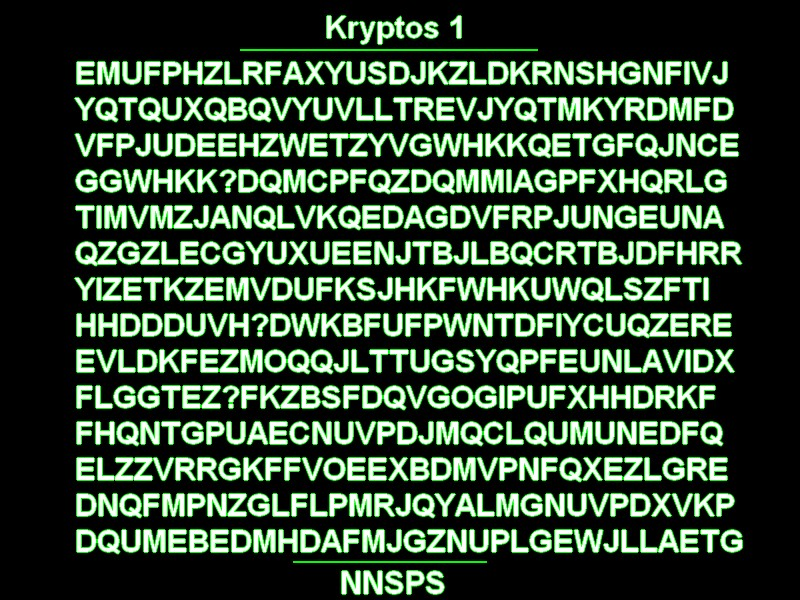 Cia kryptos decoded cryptogram