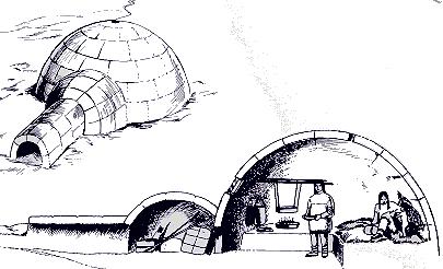 Passions et partage diff rentes habitations indiennes for Interieur igloo