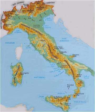 Passions et partage l 39 italie g n ralit s - La superficie de l italie ...
