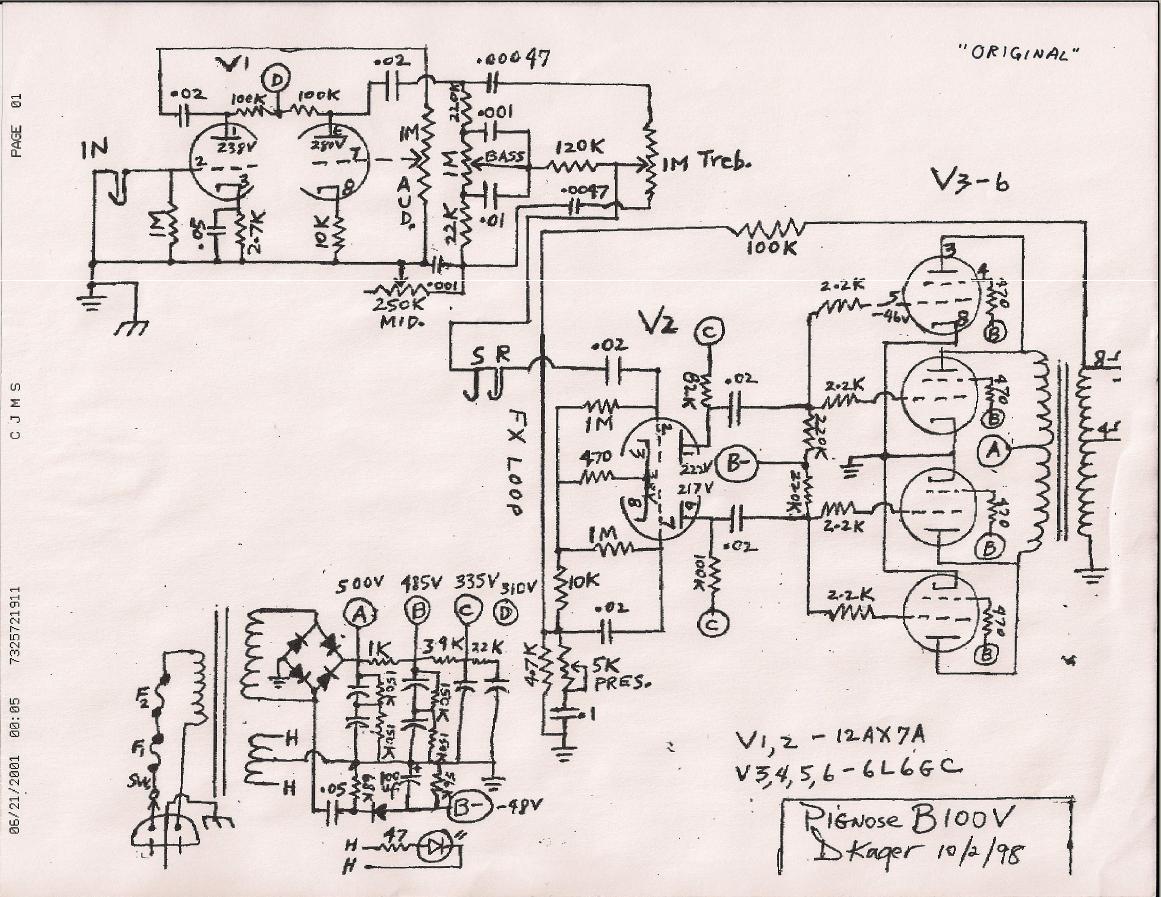 pignose amp schematic pignose wiring diagram and circuit schematic