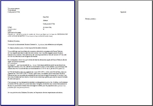 format type lettre La Guerrière Celte :: FAI : Litiges/Recours/Obligations/Lettres types format type lettre