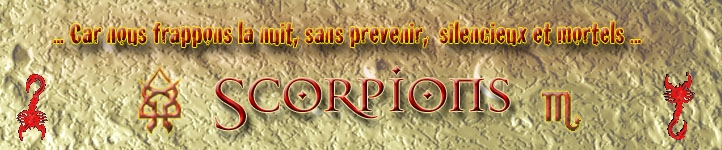 Scorpions Index du Forum