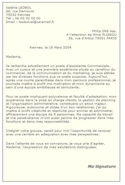 lettre de motivation fonction publique candidature spontanee