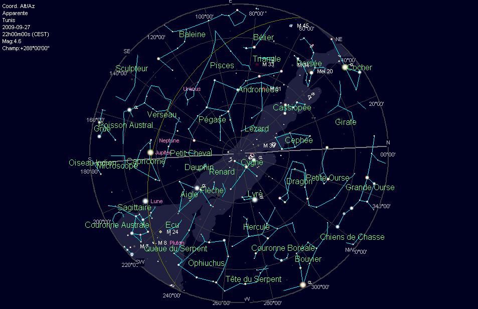 carte du ciel gratuite astronomie