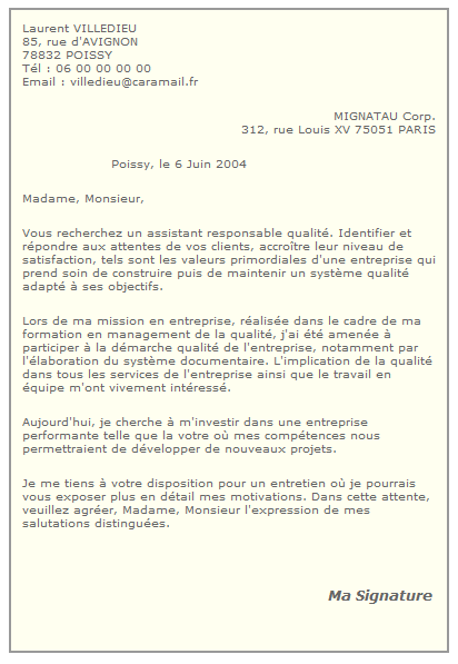 modele lettre de motivation master 2 psychologie clinique