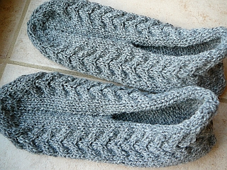 comment tricoter des pantoufle en phentex