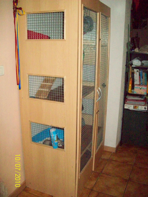 Furet vison cage pour furet for Accessoire furet fait maison
