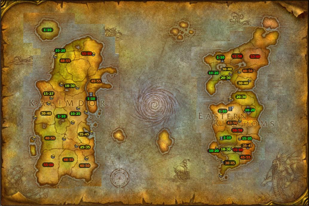 карта рыбной ловли в вов
