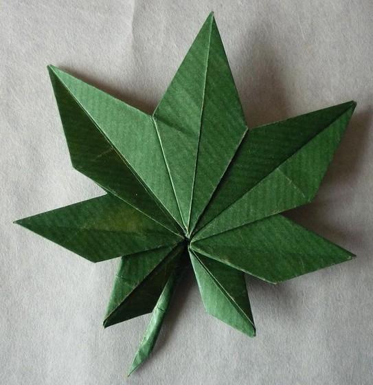 Origami Feuille Derable Facile