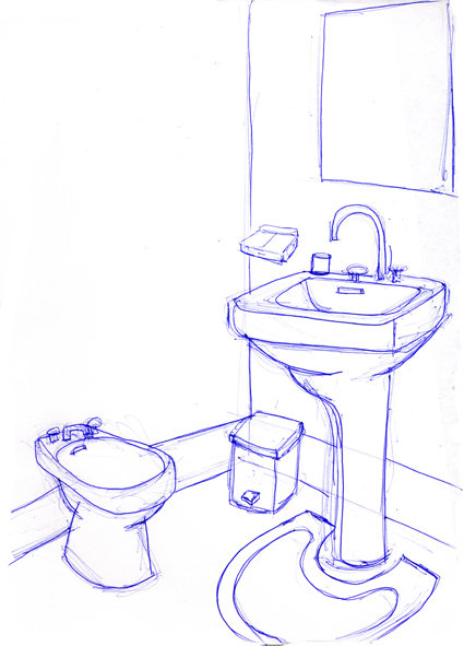 Nrp shourai appartement de shizune enren for Salle de bain dessin