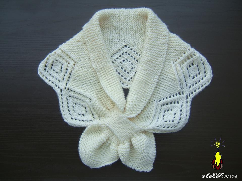 modèle tricot chauffe epaule