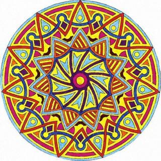 Pin mandala couleurs on pinterest - Mandalas signification formes ...