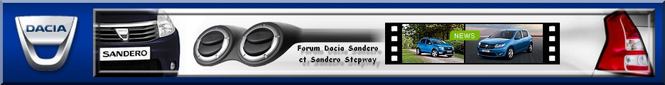 FORUM DACIA SANDERO - BIENVENUE AUX SANDERISTES Forum Index