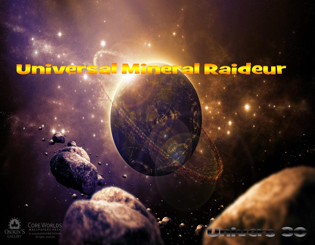 Universal Mineral Raideur Index du Forum