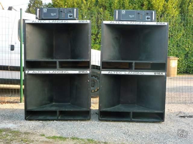 dirty monkey 4 caissons de bass altec 816a 2 amplis neva 1200 et 1 caisson de basse proel. Black Bedroom Furniture Sets. Home Design Ideas