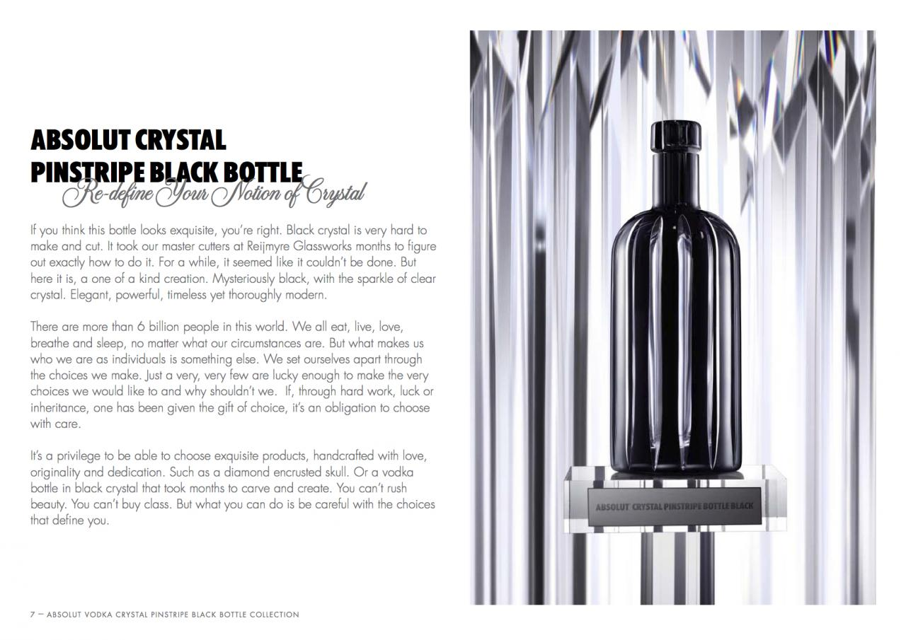 Absolut vodka Forum :: Absolut Crystal Pinstripe Black | 2011 | Worldwide  in select DFS | 10 copies
