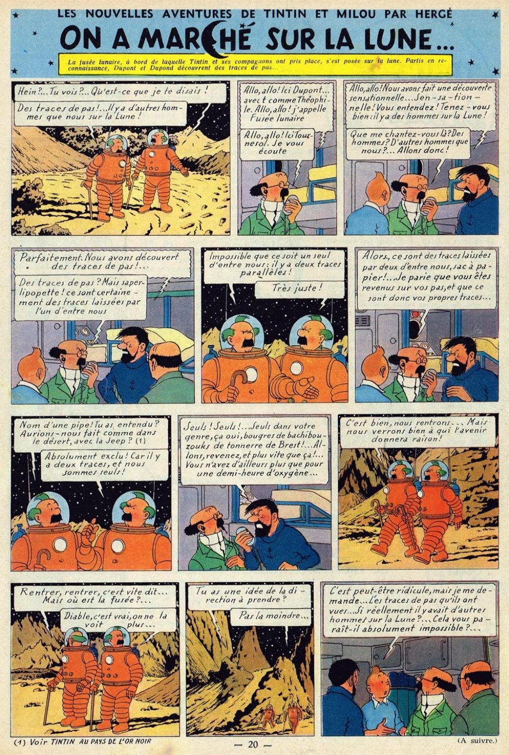 Exceptionnel Les Aventures de Tintin :: différence entre la pré parution et l  LQ07