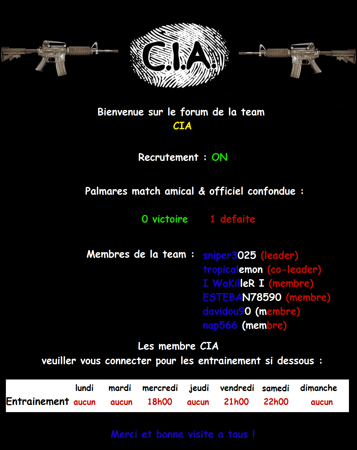 CIA Index du Forum