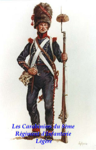 CARABINIERS Du 8ème Régiment d'infanterie légère Index du Forum